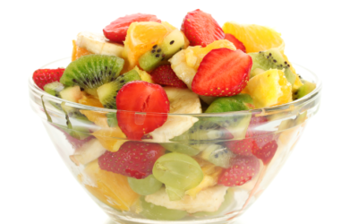 Salade de fruits ananas mangue kiwi