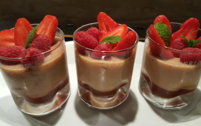 Panna cotta lait d'amande fruits rouges